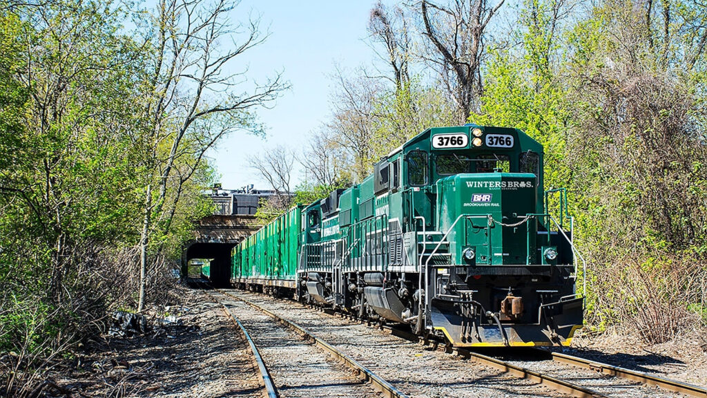 Winters Bros. Freight Train on Tracks