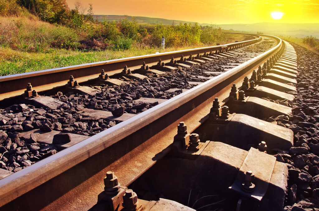 Rail Line Sunset